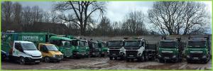 Tidysite fleet of waste management vehicles